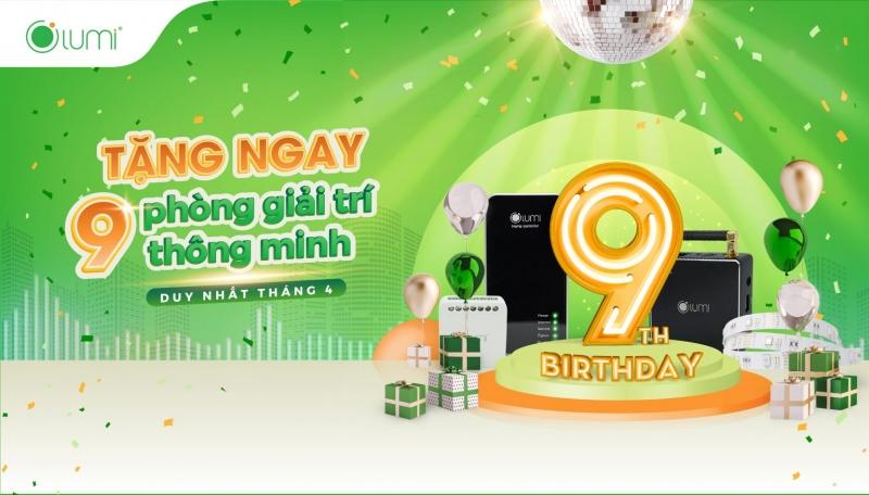 Mừng sinh nhật Lumi 9 tuổi: Tặng ngay 09 phòng GIẢI TRÍ THÔNG MINH cho 09 khách hàng may mắn nhất